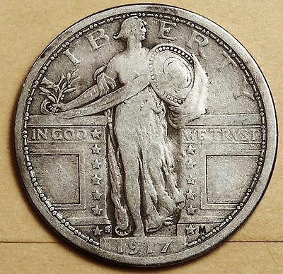 1917-s Standing Liberty Quarter.  Very Fine.  Type One.   108192