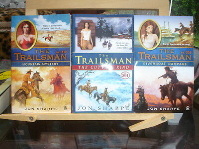 3 X ADULT WESTERNS - THE TRAILSMAN SERIES, Nos. 291; 317; & 335.