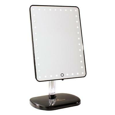 Impressions Vanity Touch Pro LED Makeup Mirror BT Audio Speakerphone USB Black