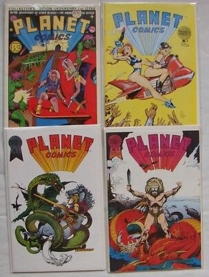 PLANET COMICS 4 issues DAVE STEVENS COVER collectors edition of 1st GOLDEN AGE