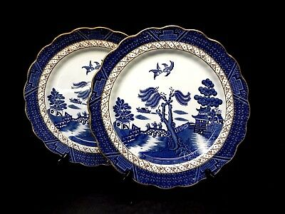 Booths (England) Real Old Willow Blue set of 2 Dinner Plates