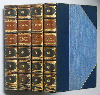 """J. M. BARRIE - THE PLAYS • Complete """"Uniform Edition"""" 1923 • 8 vols. Bound in 4"""