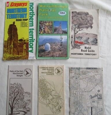 Vintage c1960s Gregory's MAP OF NORTHERN TERRITORY plus other old Maps & Guides
