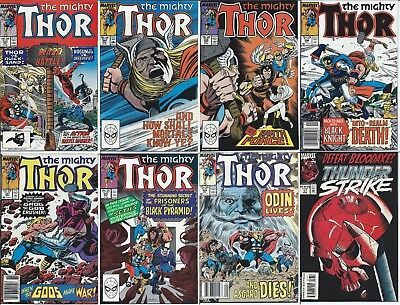 LOT of 8 mighty THOR ( MARVEL COMIC BOOK COLLECTION) issues # 393-399 & TS 19