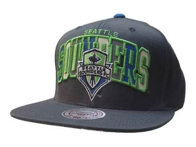 low priced c417d 2cada Seattle Sounders FC Mitchell   Ness Gray Structured Flat Bill Snapback Hat  F S