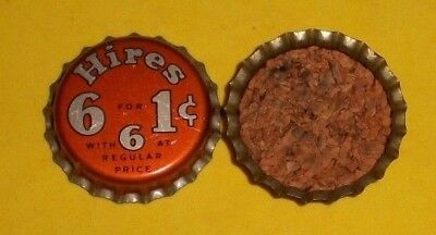 (1) Unused NOS Hires 6 For 1 Cent Special Sale Root Beer Cork Soda Bottle Cap A