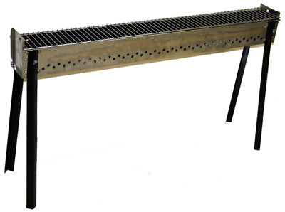 Long Freestanding Skewer Charcoal Grill with Satay Bar