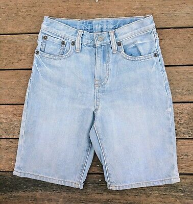 Polo Ralph Lauren Light Blue Jeans Denim Shorts Sz 5 6 7 EUC Elastic Waist