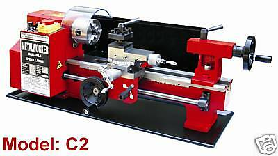 "Sieg C2 - 300x180mm( 12""X7"") Variable Speed Mini Metal Lathe with Auto-Feed"