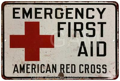 American Red Cross First Aid Vintage Look Reproduction Metal Sign 8x12 8121731