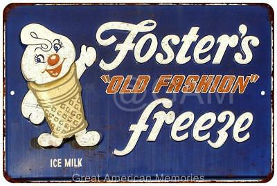 Fosters Old Fashion Freeze Vintage Look Reproduction Metal Sign 8x12 8121944