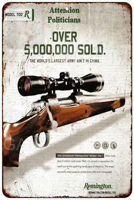 Remington 700 Over 5 Million Sold! Vintage Reproduction 8x12 Metal Sign 8121624