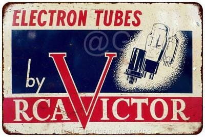 RCA Victor Electron Tubes Vintage Look Reproduction Metal Sign 8x12 8121914