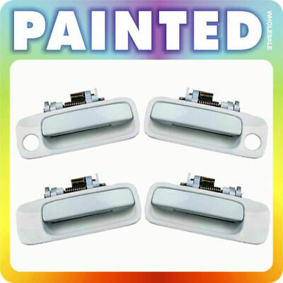 97-01 For Toyota Camry Set of 4pcs Outside Door Handle 051 Diamond White Pearl