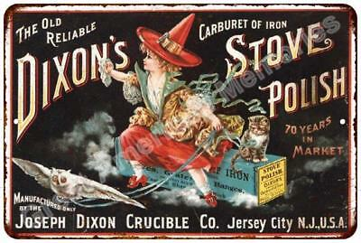 Dixon's Stove Polish Vintage Look Reproduction Metal Sign 8x12 8122877