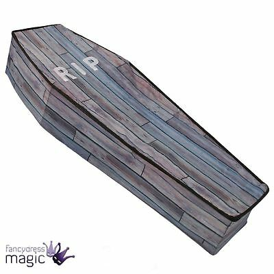 1.5m Large Wood Effect Vampire Collapsible Coffin Halloween Prop Shop Decoration