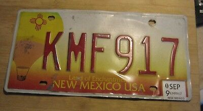 2009 New Mexico Hot Air Balloon License Plate Expired Kmf 917