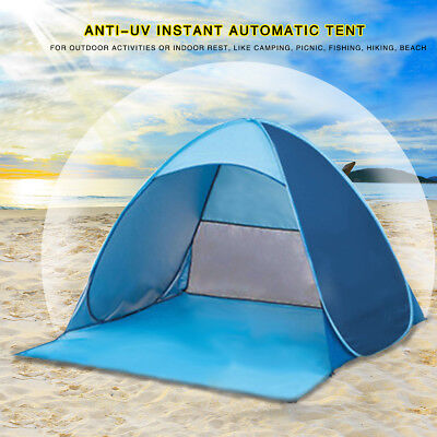 AU 2-3 Person Pop Up Automatic Shelter Anti-UV Outdoor Camping Hiking Beach Tent