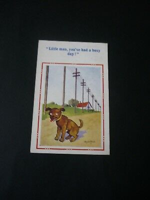 New DONALD MCGILL Comic Postcard, Constance 1433, Dog, Busy day