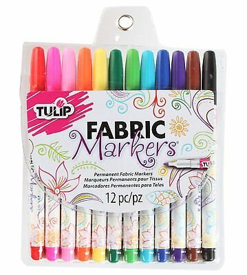 Tulip * Permanent Fabric Markers * 12 Pack * Brand New * Free Post
