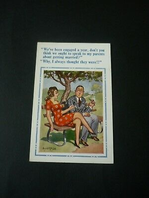 New DONALD MCGILL Comic Postcard, Constance 2088, Parents getting married