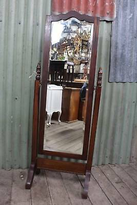 A Vintage Lovely Shaped Cheval Mirror