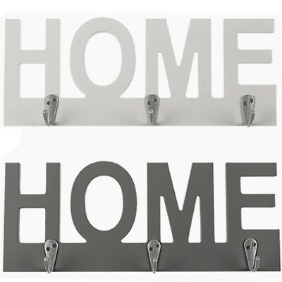 Set Of 2 Key Holder Rack Organizer Home Cutout Door Hanger Wall Mount Hooks New
