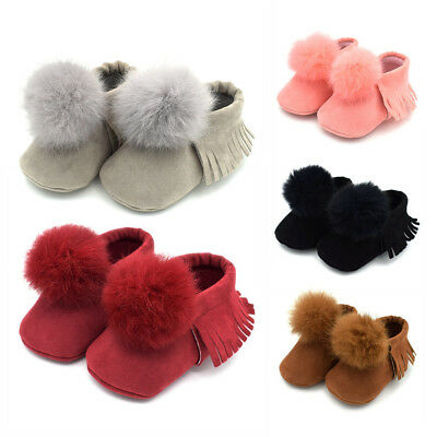 Toddler Baby Infant Girl Ball Soft Sole Crib Shoes Moccasins Anti-slip Prewalker