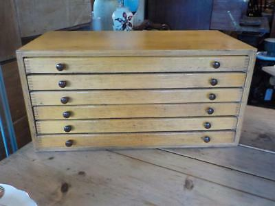 Vintage Printers Chest Collectors Cabinet Coins Cabinet 6 Drawer Cabinet