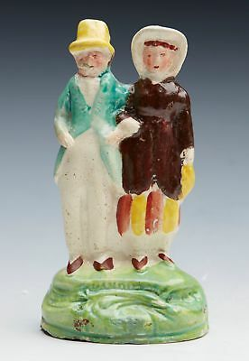 Antique Staffordshire Dandies Figure Group Early 19Th C.