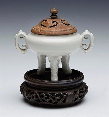 Antique Chinese Dehua Tripod Censer 19Th C Or Earlier