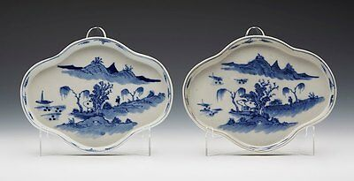 Pair Antique Chinese Qianlong Supper Dishes 18Th C.