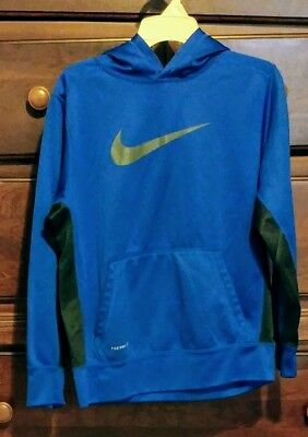 Nike Therma-Fit Boys Youth Size L Hoodie  Royal Blue