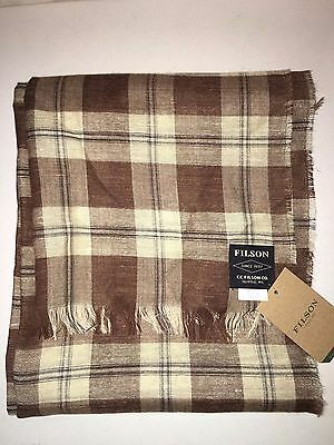 New With Tags Filson Made In Scotland Linen Silk & Wool Scarf