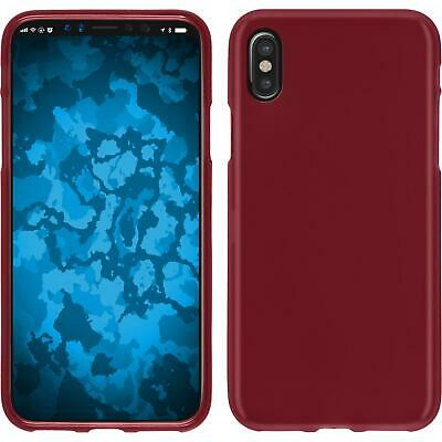 Custodia Apple iPhone X / XS stuoia rosso Cover iPhone X / XS in silicone Case