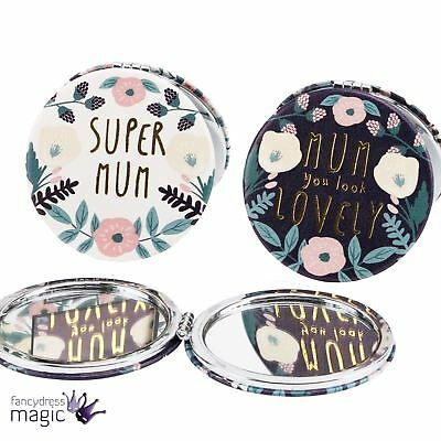 Super Lovely Mum Mothers Day Compact Travel Handbag Cosmetic Mirror Accessory
