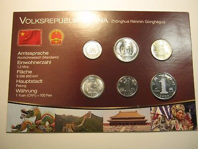 Peoples Republic Of China Unc Coin Set In Sealed Blister Pack .dr1