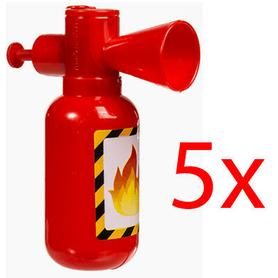 Set Of 5 Water Squirter Fire Extinguisher Kids Toy Fun Xmas Shooter 12Cm New
