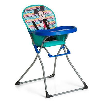 Hauck Disney Mac Baby Highchair (Mickey Geo Blue) folds for storage