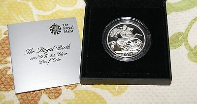 Royal Birth 2013 Uk £5 Silver Proof Coin Prince George Free Shipping