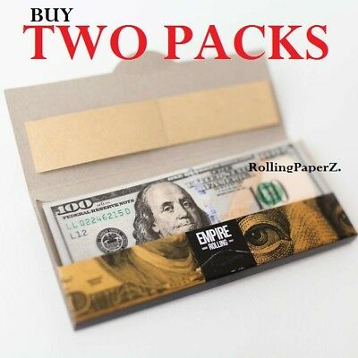 BUY TWO PACKS - Empire $100 Dollar Bill Rolling Papers 2 Wallets