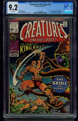 Creatures On The Loose #10 (1971) CGC Graded 9.2 ~ King Kull ~ Bernie Wrightson