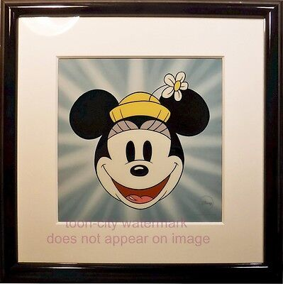 Disney Sericel Here's Minnie Mouse Cel 1930 Title Cards Original Disney Frames