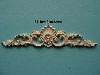 Decorative wooden shell scroll center appliques furniture mouldings onlay C156