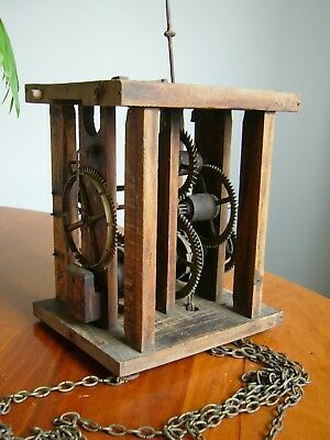 An Antique Wooden Framed Clock Movement - German? - Cuckoo Clock?