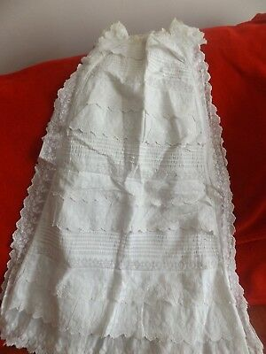 Vintage Christening Gown Lovely Embroidery