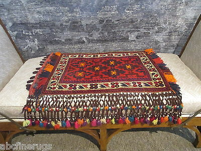 "2'7""x3' Decorative Pillow Cover Wall/Sofa Hanging Hand-knotted Wool Rug 581055"