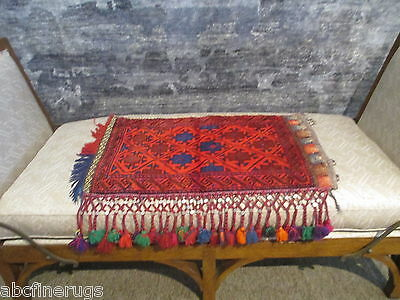 "2'4""x3'1"" Decorative Pillow Cover Wall/Sofa Hanging Hand-knotted Wool Rug 581062"