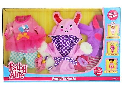 BABY ALIVE DOLL CLOTHES Pretty Lil Fashion Set 3 Outfits