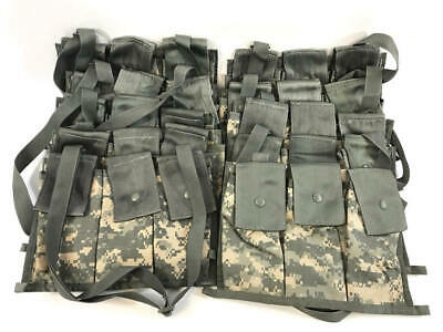 Bulk Lot of 10, 6 Magazine Bandoleer Pouch, MOLLE II Mags Army ACU Mag Pouch